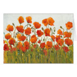 Rows of Poppies I Greeting Card