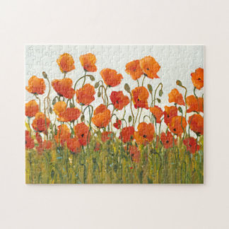 Rows of Poppies I Jigsaw Puzzle