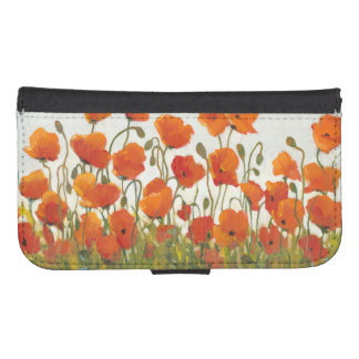 Rows of Poppies I Samsung S4 Wallet Case