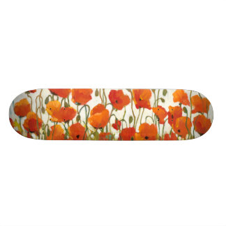 Rows of Poppies I 20.6 Cm Skateboard Deck