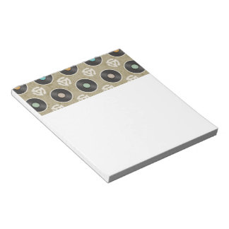 Rows of Records Pattern Notepad