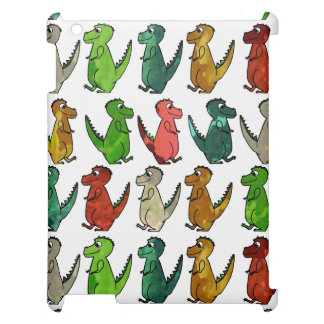 Rows of T-Rex Cover For The iPad 2 3 4