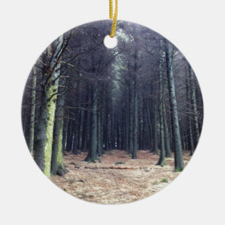 Rows of trees christmas ornament