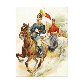 Roxbury Horse Guards 1895 Gallery Wrap Canvas
