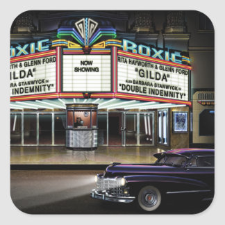 Roxie Picture Show Square Sticker