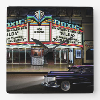 Roxie Picture Show Square Wall Clock