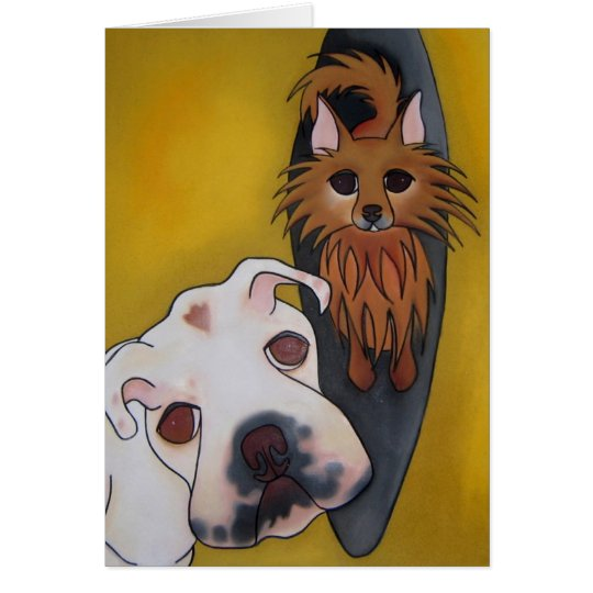 Roxy & Irish by Robyn Feeley Card