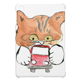 Roxy Kitty Grabs a Little Red Car iPad Mini Cover