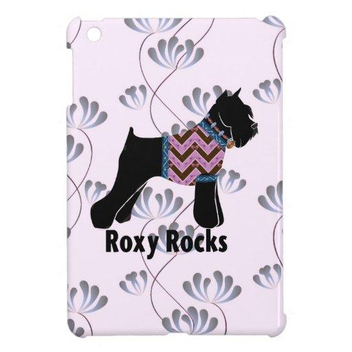 Roxy Rocks with Climbing Flowers pattern iPad Mini Covers
