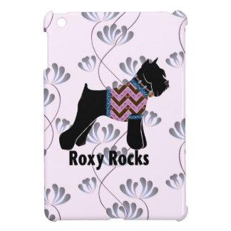 Roxy Rocks with Climbing Flowers pattern iPad Mini Cases