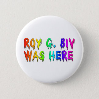 Roy G. Biv Graffiti 6 Cm Round Badge