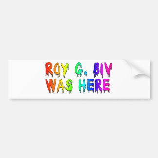 Roy G. Biv Graffiti Bumper Stickers