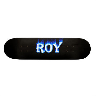 roy ghost flame skateboard graphic design by manti