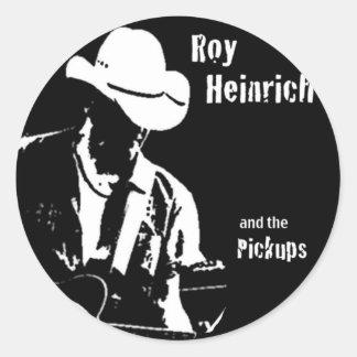 Roy Heinrich and the Pickiups Round Sticker
