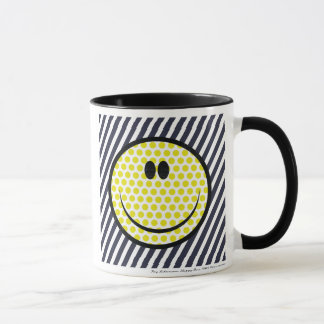Roy Lichtenstein happy face mug