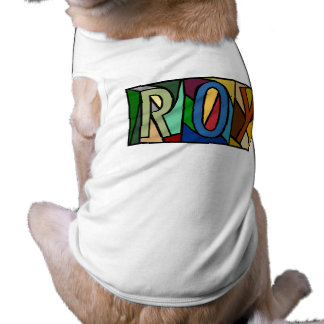ROY ~ PERSONALIZED BIG LETTERS~ PET-WARE FOR DOGS! PET TSHIRT