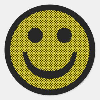 Roy Smiley Round Sticker