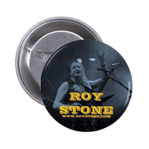 ROY STONE LIVE BLACK & WHITE BADGE BUTTON