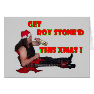 ROY STONE WHISKY XMAS CARD