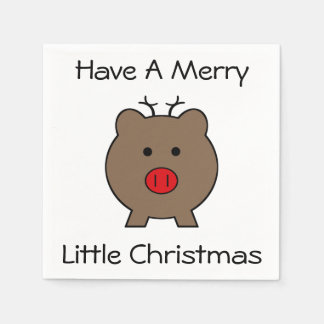 Roy the Christmas Pig Disposable Serviette