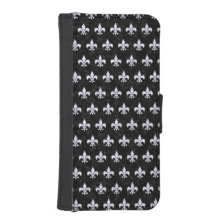 ROYAL1 BLACK MARBLE & WHITE MARBLE (R) iPhone SE/5/5s WALLET CASE