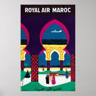 Royal Air Maroc Vintage Travel Poster