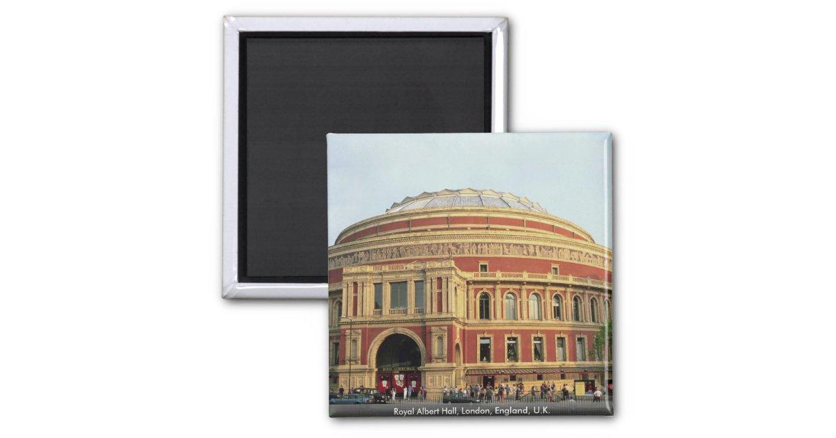 Royal albert hall london england u k square magnet for Door 8 albert hall