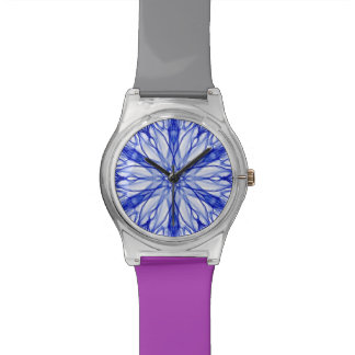 Royal and Mid Blue Fractal Watch