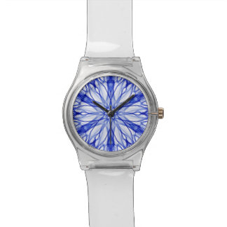 Royal and Mid Blue Fractal Wristwatch