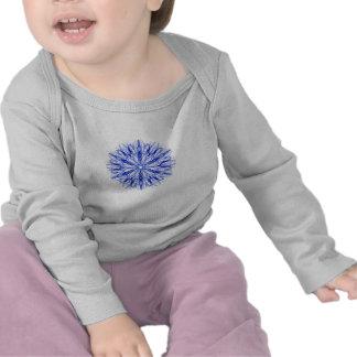 Royal and Mid Blue Winter Snowflake Fractal T-shirts
