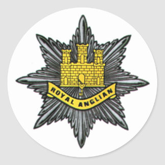 Royal Anglian Regiment Small Circular Sticker