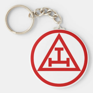 Royal Arch Chapter Basic Round Button Key Ring