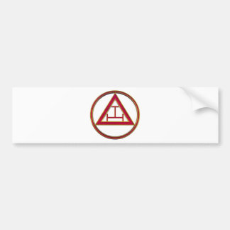 Royal Arch Triple Tau Bumper Sticker