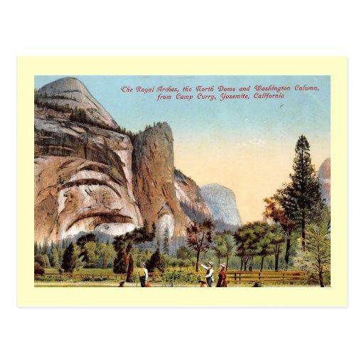 Royal Arches, Yosemite National Park Vintage Post Card