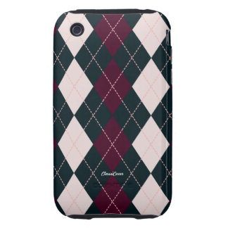 Royal Argyle Pink Blue iPhone 3G/3GS Case Mate Tough iPhone 3 Covers