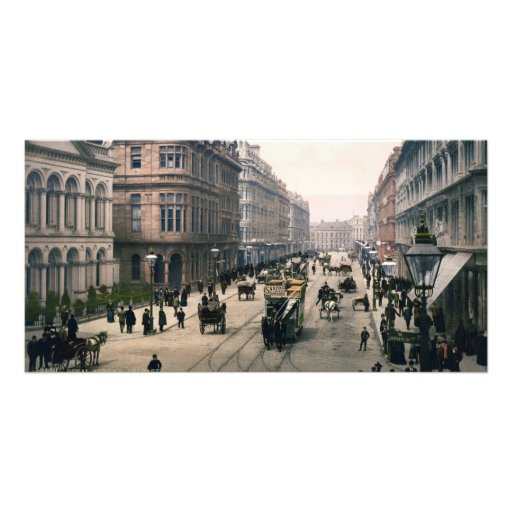 Royal Avenue Belfast Co. Antrim, Ireland 1890 Photo Greeting Card