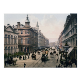 Royal Avenue Belfast Co. Antrim, Ireland 1890 Poster