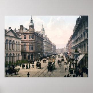 Royal Avenue Belfast Co. Antrim, Ireland 1890 Poster