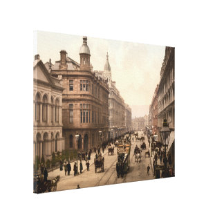 Royal Avenue, Belfast, Northern Ireland Stretched Canvas Print