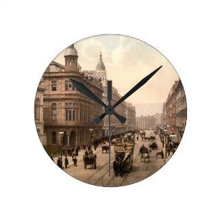 Royal Avenue, Belfast, Northern Ireland Round Clock
