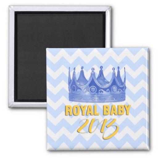 Royal Baby 2013 crown chevron magnet