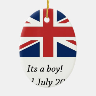 royal baby birth william and kate heir ceramic oval decoration