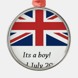 royal baby birth william and kate heir Silver-Colored round decoration