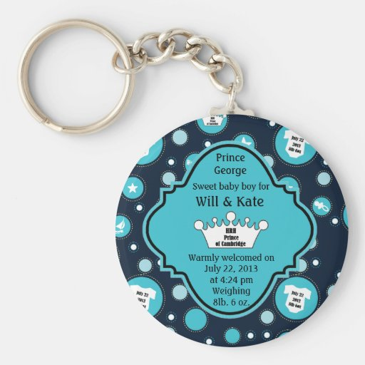 Royal Baby Boy for William and Catherine 2013 Key Chains