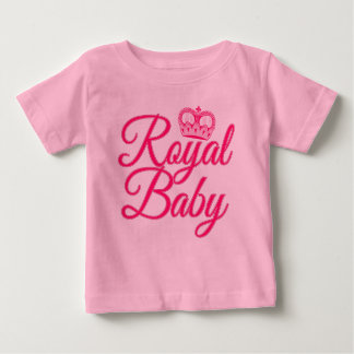 Royal Baby in Pink with Crown Baby T-Shirt
