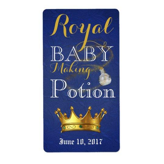 Royal Baby Making Potion wine bottle labels