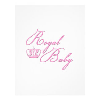 Royal Baby Pink With Crown Full Color Flyer