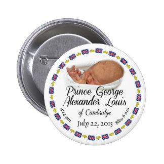 Royal Baby - Prince George Alexander Louis 6 Cm Round Badge