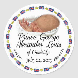 Royal Baby - Prince George Alexander Louis Classic Round Sticker