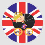 Royal Baby Union Jack Stickers